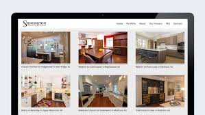 interior design website design for stonington cabinetry trillion