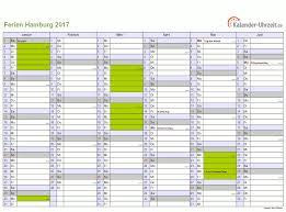Kalender 2018 Hamburg Zum Ausdrucken Ferien Hamburg 2017 Ferienkalender Zum Ausdrucken