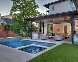 Patio And Pool Designs Backyard Ideas With Pools Plunge Pools Damsel In Small Backyard