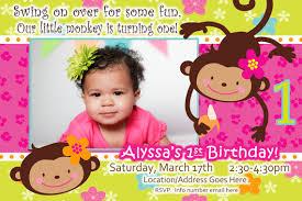 birthday 1 year old ba birthday invitations card and in
