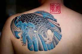 collection of 25 koi fish pisces tattoos on chest