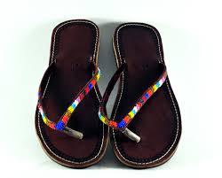 summer sandals with the delightful maasai beadwork designs