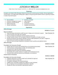 Office Manager Resume Example by The Brilliant Office Manager Resume Examples Resume Format Web