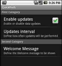 android preferences criando um arquivo de preferências base de bugs do dadonas