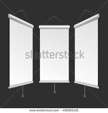 free printable vertical banner template blank roll banner template vertical white stock vector 490981435