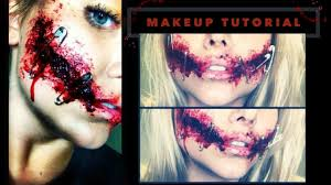 sfx mouth sewed shut halloween makeup tutorial beeisforbeeauty