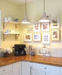 Cottage Kitchen With Butcher Block Counter Tops And Subway Tile - Butcher block backsplash