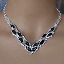 rhinestone necklace sets images See our selection of black or grey rhinestone jewelry sets at jpg