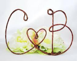 rustic love wedding cake topper rustic wedding cake