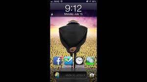 iphone 5 minions theme using iwidgets and winterboard sound youtube