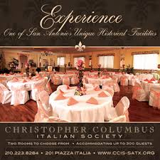wedding halls for rent christopher columbus italian society