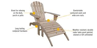 Adirondack Chair With Ottoman Stonegate Designs Wooden Adirondack Chair With Ottoman Model Cs