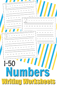 free math printable numbers 1 50 writing math worksheets