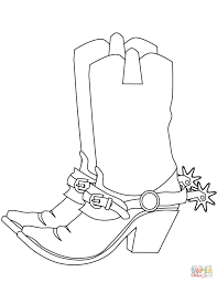 cowboy boots coloring page free printable coloring pages