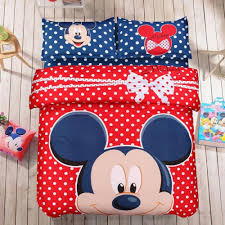 Mickey And Minnie Bed Set by And Red Mickey Mouse Bedding Set