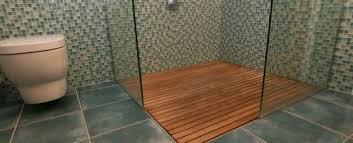 shower teak floors