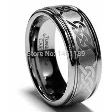 thumb rings for men from tungsten carbide laser etched on the dotted 8