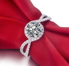 top wedding ring brands aliexpress buy top brand design wave 1carat