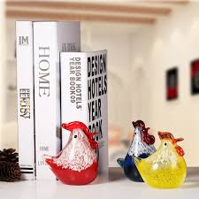 best and cheap glass yellow small chicken glass sculpture home