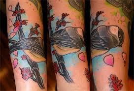 adam sky tattoos san francisco chickadee tattoo by adam sky