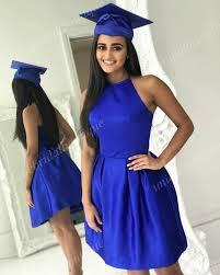 blue graduation dresses junior high graduation dresses ajax 2017 with halter neck and