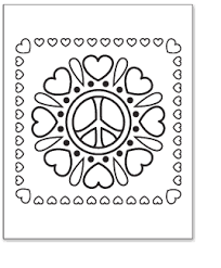 peace sign coloring pages