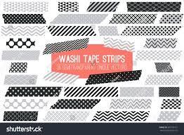 Halloween Washi Tape by Grey Black White Washi Tape Strips Stock Vector 581579161