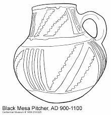 native american pottery coloring pages