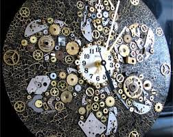 Unique Large Wall Clocks Steampunk Wall Clock Etsy