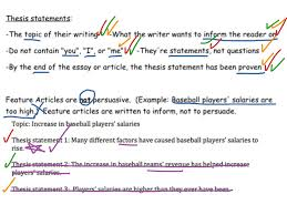 example thesis statements feature articles thesis statement english writing showme