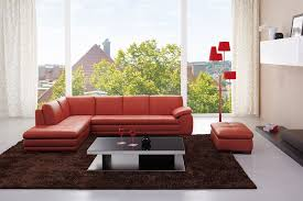 Left Facing Sectional Sofa by 625 Leather Sectional Sofa In Pumpkin Color By J U0026m Furniture