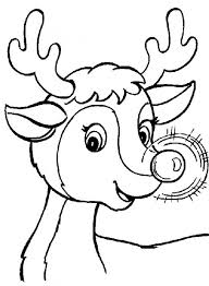 rudolph reindeer printables coloring pages