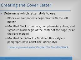 cover letter style creating a cover letter and a resume ppt video online download