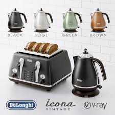 Delonghi Toaster Icona 3d Models Kitchen Appliance Delonghi Vintage Icona Collection