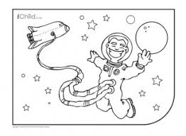 astronaut colouring picture ichild