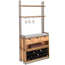 deluxe wentworth bakers rack with drawers and wine rack