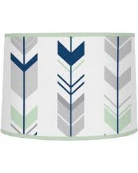 large fabric l shades slash prices on sweet jojo designs grey and mint fabric mod arrow