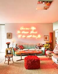 orange home decor daring home decor neon lights for every room