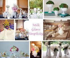 Vintage Vases Wedding 151 Best Milk Glass Wedding Centerpieces Images On Pinterest
