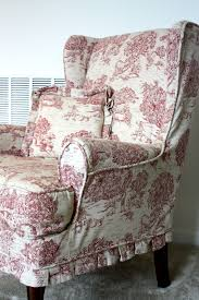 Country Sofa Slipcovers by Red Toile Wing Chair Twill Slipcover Studio Toile Pinterest