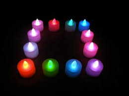blue tea light candles flameless led tea light candles in red green blue and white