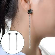 creative earrings charm sea style creative coconut tree shape ear