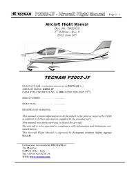 tecnam p2002 jf flight manual turbine engine failure