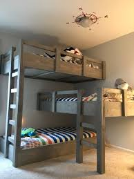 three bunk beds like the color of the beds pinteres