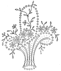 Flower Designs For Embroidery Vintage Embroidery Transfer Basket 1 Embroidery Pinterest