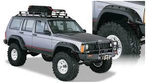 amazon com bushwacker 10911 07 jeep cut out fender flare set of