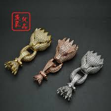 bracelet clasp images 3pcs high quality luxury bracelet clasp rose gold silver leopard jpg