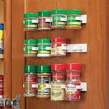 Cabinet Door Clips Clip N Store Kitchen Bottle Spice Organizer Rack Cabinet Door