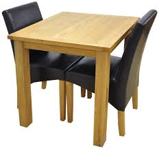 Dining Set 2 Chairs Weston Oak Small Fixed Top Table 2 York Brown Chairs Setweston