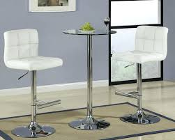 square glass pub table white pub table style and chairs cvid
